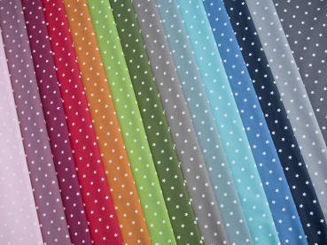 Beschichtete Baumwolle Sterne Wachstuch, Acrylbeschichtung, große Farbauswahl