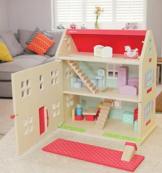 Indigo Jamm Hascombe Puppenhaus aus Holz in rose