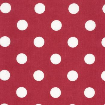 AU MAISON Wachstuch Dots Giant Red Rote Punkte