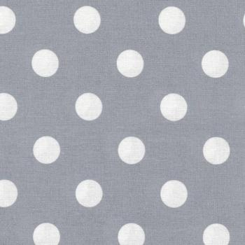 AU MAISON Wachstuch Dots Giant Dusty Blue Punkte